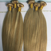 Fashion Mink Malaysian Human 27#613 Color Straight Hair Extens, Cuticle Aligned Raw Weft Hair With Lace Closure Custom Hairline