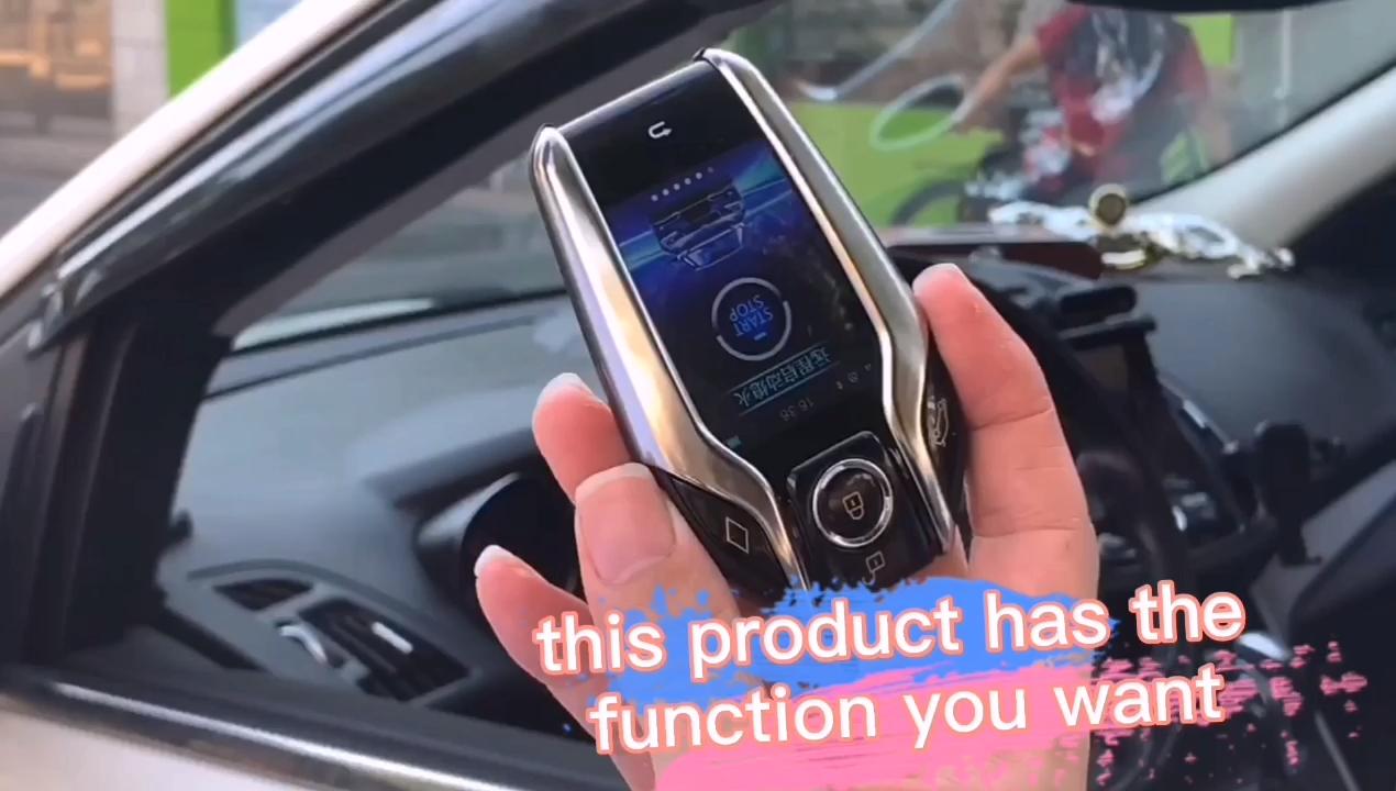 Cardotเครื่องยนต์ระยะไกลLCDรีโมทคอนโทรลควบคุมStart Stopปุ่มล็อคประตูรถอัจฉริยะรถยนต์