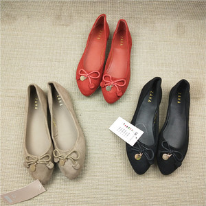 Cheap wholesale ladies classy comfortable flat ballet pump shoes
