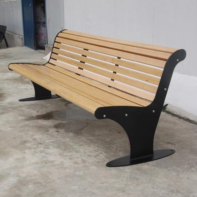 Подгонянная уличная деревянная мебель для сада современная металлическая рама скамейка уличные деревянные рейки скамейка паркетный стул