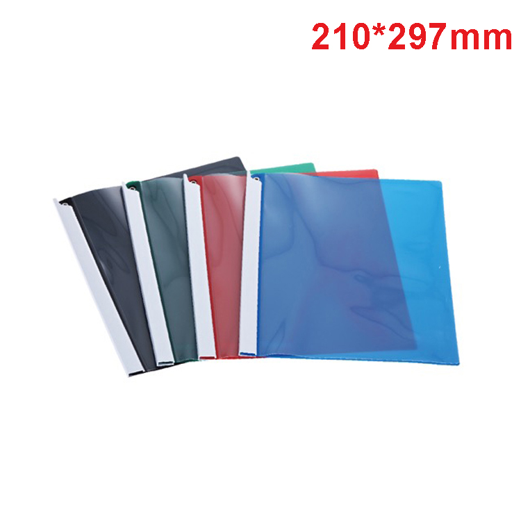 Quality Clear Plastic Sliding Bar Report Cover Document A4 Size Office Stationery File Cover