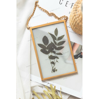 rustic metal Wall hanging double sides glass picture photo frame for living room