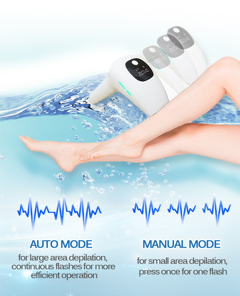 IPL Laser Epilator Hair Removal 500000 Flashes LCD Display Permanent hair remover for Men Women Electric epilator