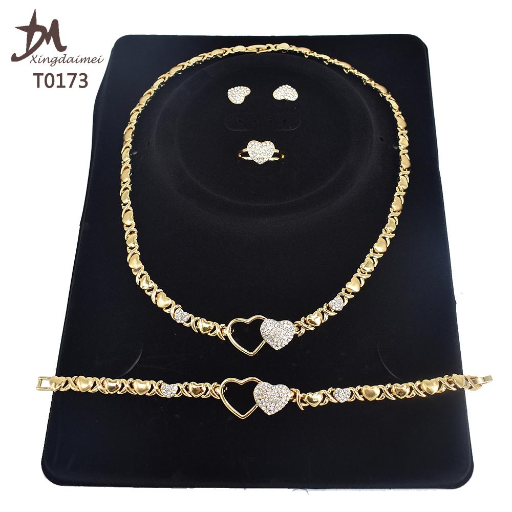 T0251 комплект ювелирных изделий для женщин, высокое качество, 18 К, позолота, Майами стиль, хип-хоп, кубинская цепочка, ювелирный набор