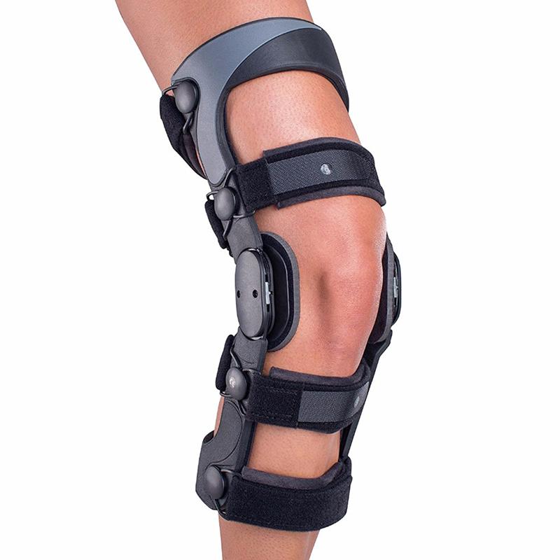 Orthopedic leg brace / angle adjustable knee brace / medical post-op knee support