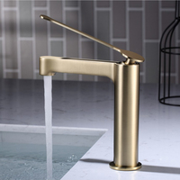 Kaiping manufacturer griferia bathroom copper brush gold faucet