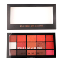 New Private Label 15 Colors Pressed Highly Pigmented Shimmer Matte Makeup Eyeshadow Palette Vegan Cosmetics Manufacturer