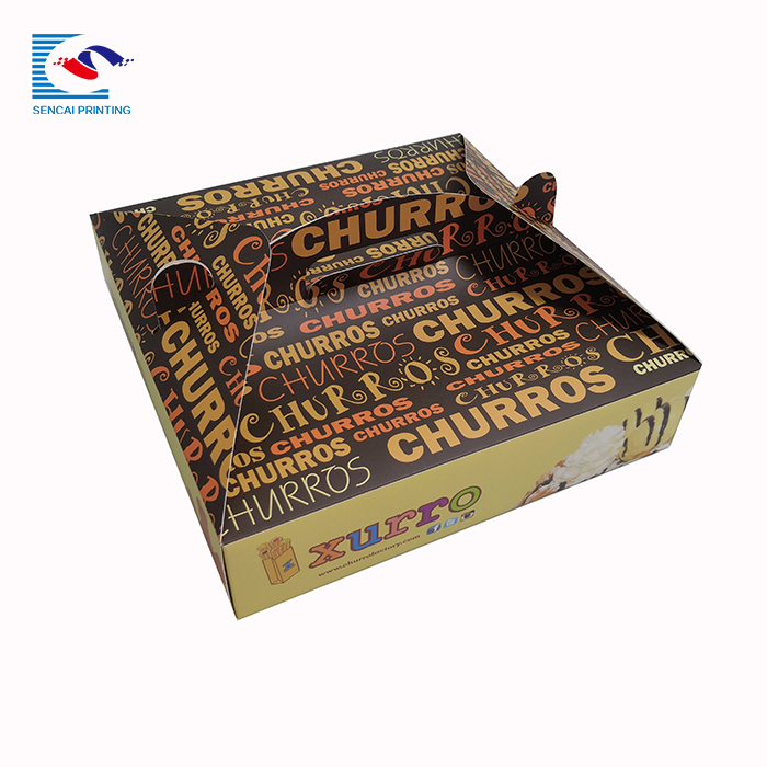SENCAI hot sale custom logo rectangular pizza deliver paper box with handle
