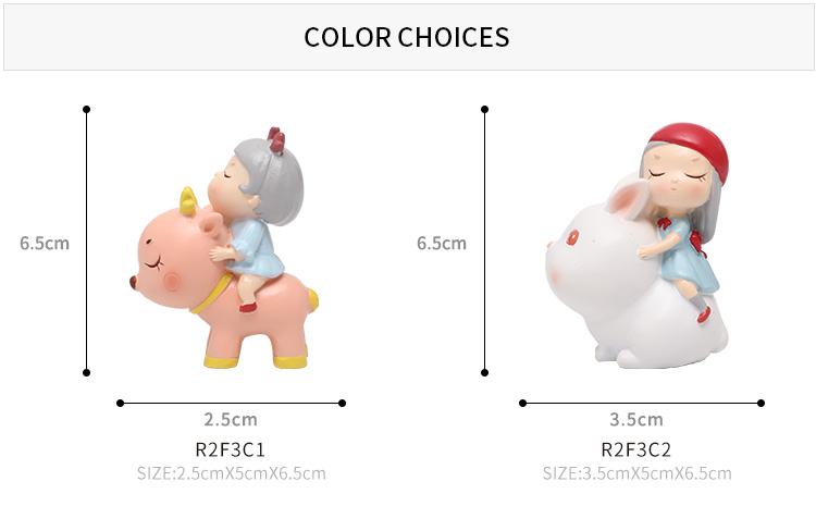Roogo dream girl home decor mini resin figurine