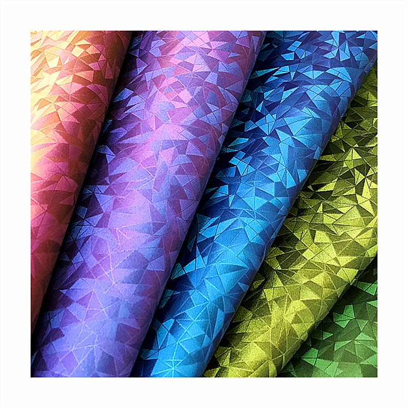 Magic color change leather color shifting vinyl fabric for bags making