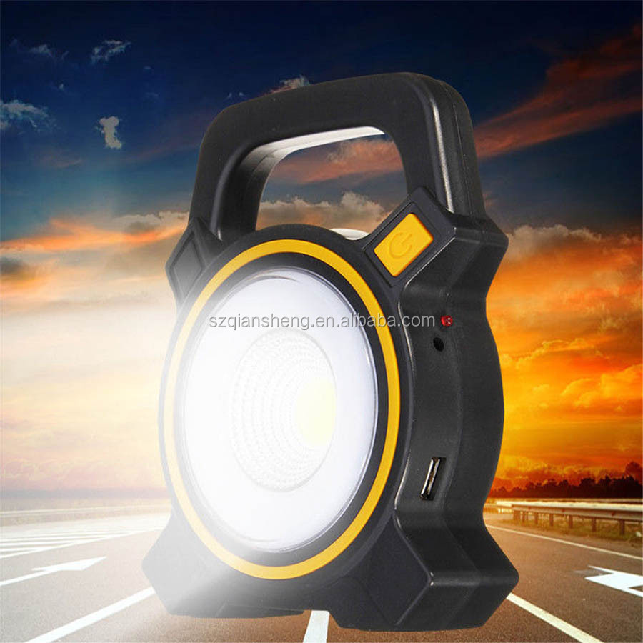 Solar Power LED COB Flood Light USB Rechargeable Portable Lanterns Outdoor Working Spot Light