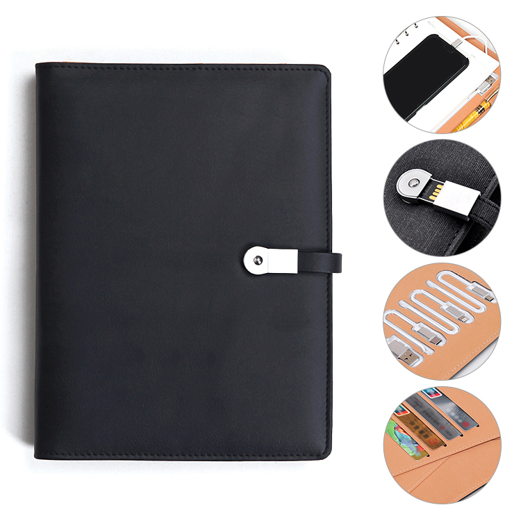 High end mobile power karte halter hardcover schule notebook benutzerdefinierte
