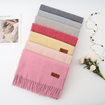 Winter Warm Scarf Luxury Brand Pashmina Female Tassel Shawl Thick cashmere wool scarf