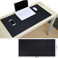 Luxury Large 80*40 cm PVC Leather Desk Pad non-slip office laptop table writing mat