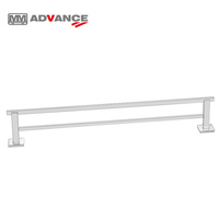 Single/Double Wall mount towel rack bathroom shelf for Aluminum shower towel bar Hardware Accessories