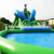 Commercial giant inflatable amusement park water slides for water park