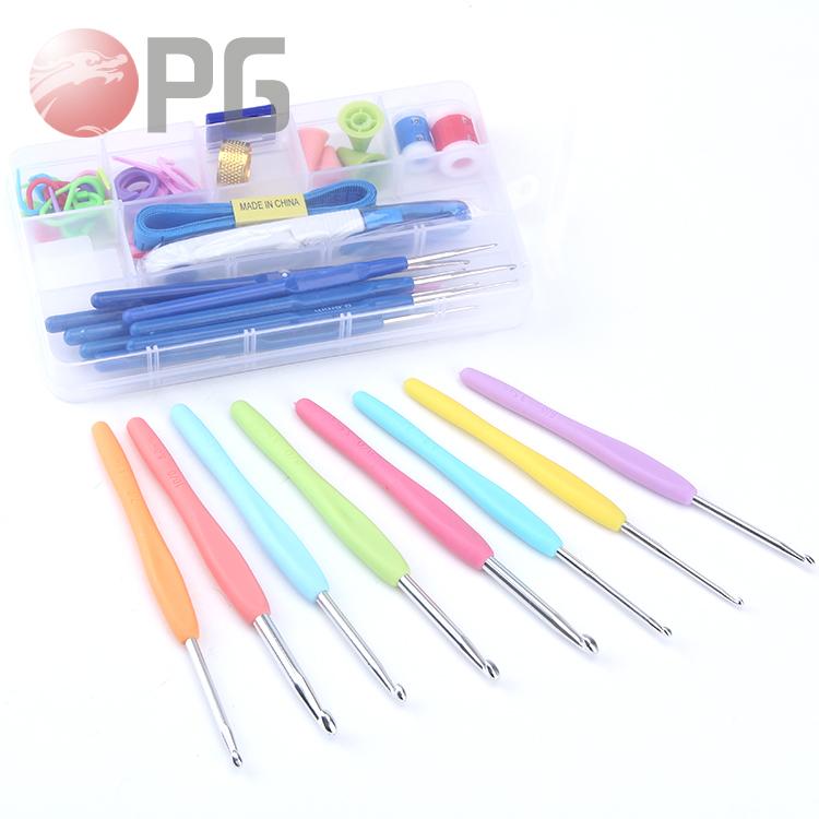 One Set 52Pcs 16 Sizes Crocheting Hooks Knitting tools set