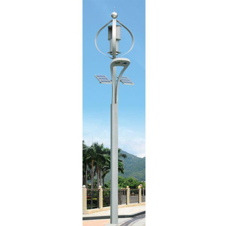 White Junction 30W Led Solar Street Light 12V Hexagonal Lamp Poles