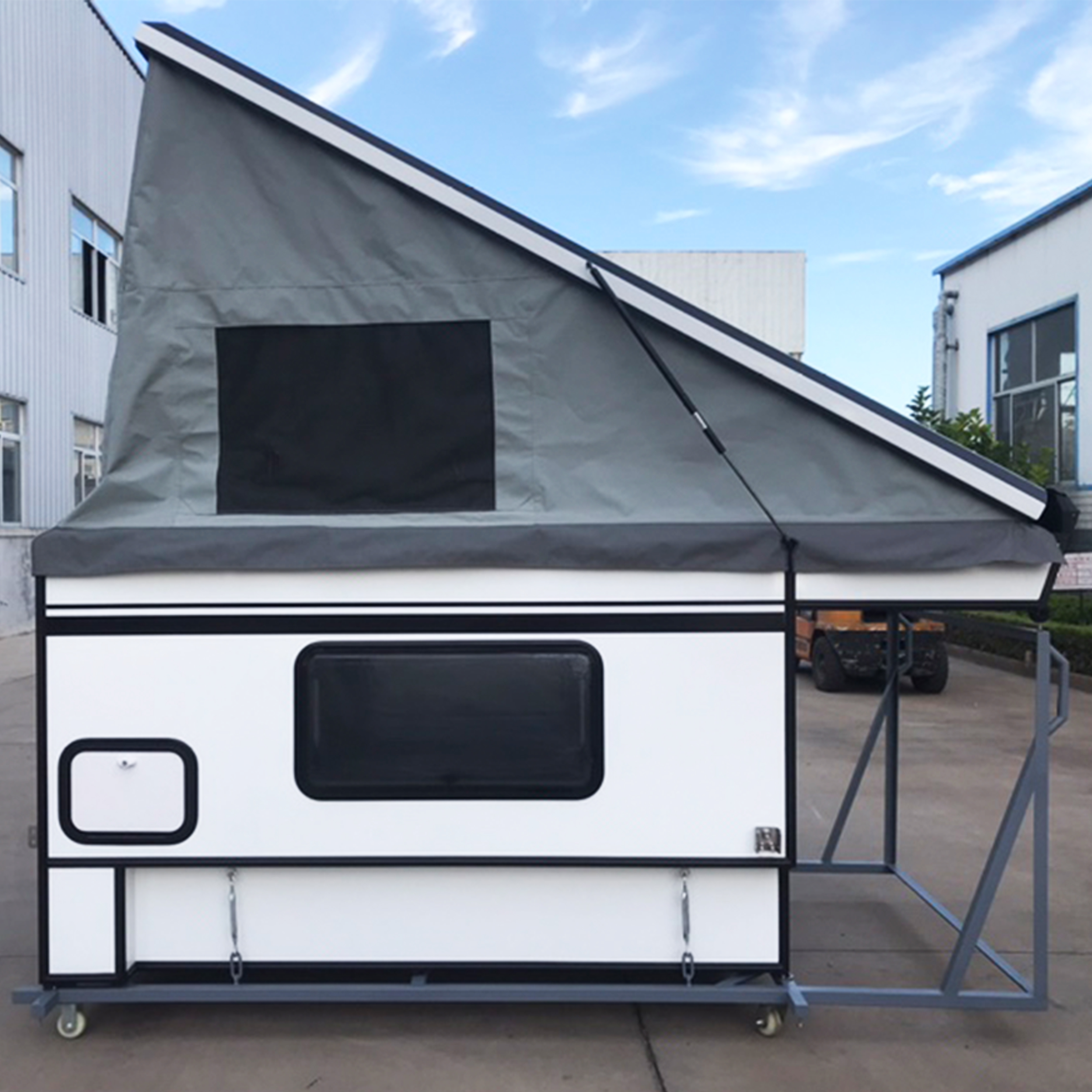 8 Ft Camping Trailers Pickup 2.4M 2020 New Hottest Selling Small Lightweight 4 Season 4X4 Pick Up Truck Slide Camper Trailer