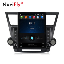 Navifly 9 ''Android9.0 Quad Core 1 + 16G TS100 <span class=keywords><strong>Besar</strong></span> Layar Split Multimedia Player Mobil untuk Toyota Highlander 2007-2013 Gar Radio