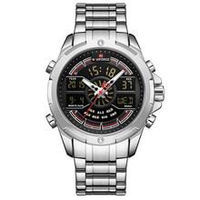 NAVIFORCE часы для мужчин Топ люксовый бренд бизнес кварцевые мужские часы из нержавеющей стали водонепроницаемые наручные часы Relogio Masculino(China)