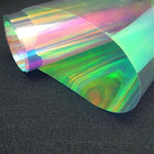Transparent Iridescent 3D Holographic PVC Lenticular Eye Film Roll Rainbow Color
