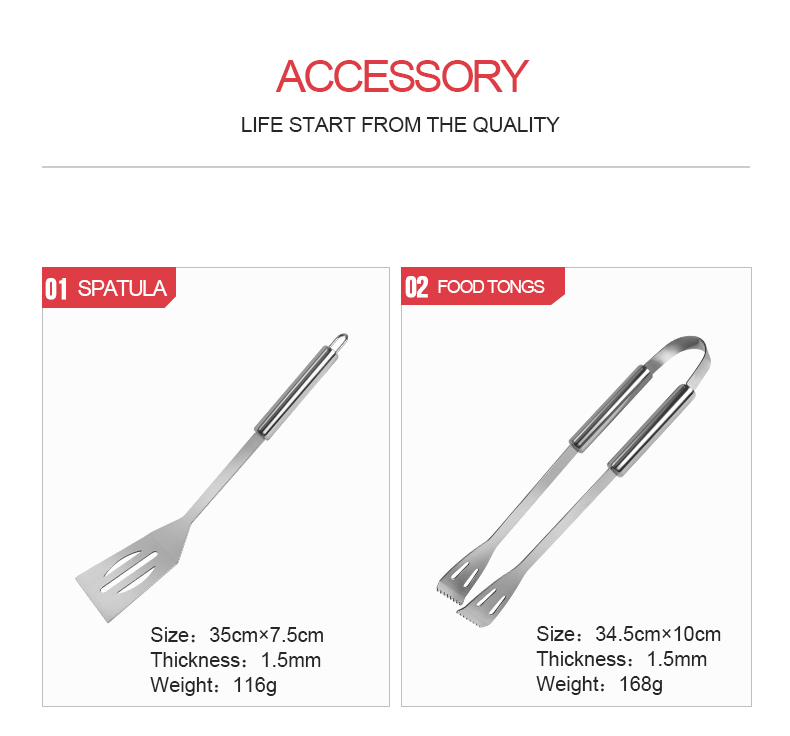 9pcs tube handle BBQ grill Tools set stainless steel Fork Knife Scissors kitchen utensils set grill barbecue accessories