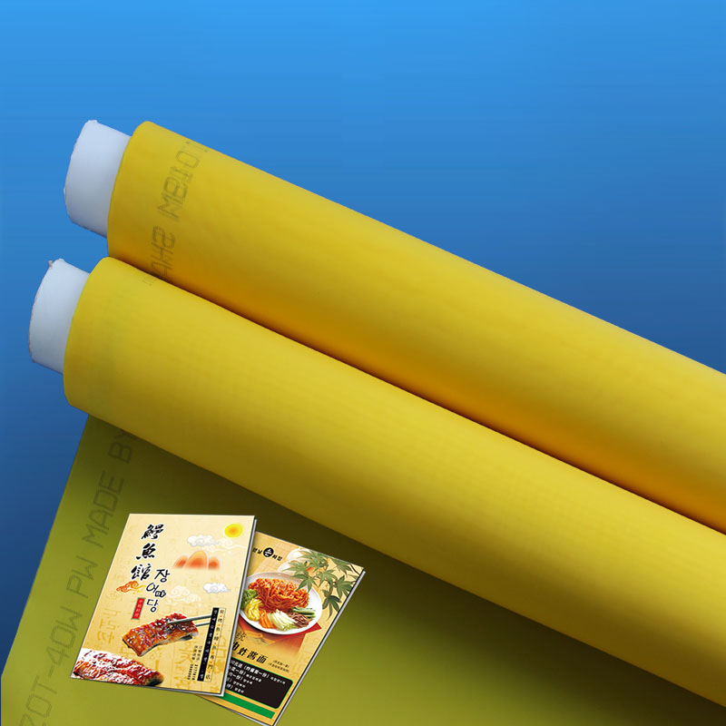43 톤 72 톤 80 톤 100 톤 White 및 Yellow Polyester Nylon Monofilament 섬유 실크 스크린 Printing Mesh