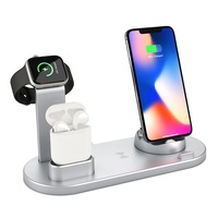 2020 Trending Product 3 In 1 Wireless Charging Station Charger Dock For All Mobile Phones / Smart Watch / AirPods