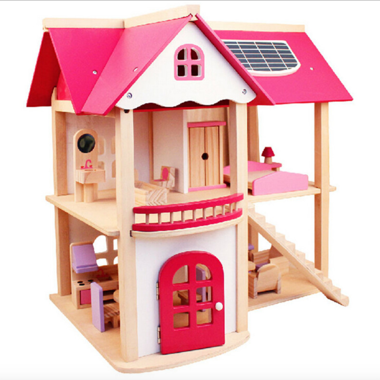 Rumah Boneka Anak, Rumah Boneka Mebel Inci Mebel Rumah Boneka Kayu Pintu Rumah Boneka Kayu