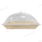 Transparent restaurant dessert dishes plastic round plate cover