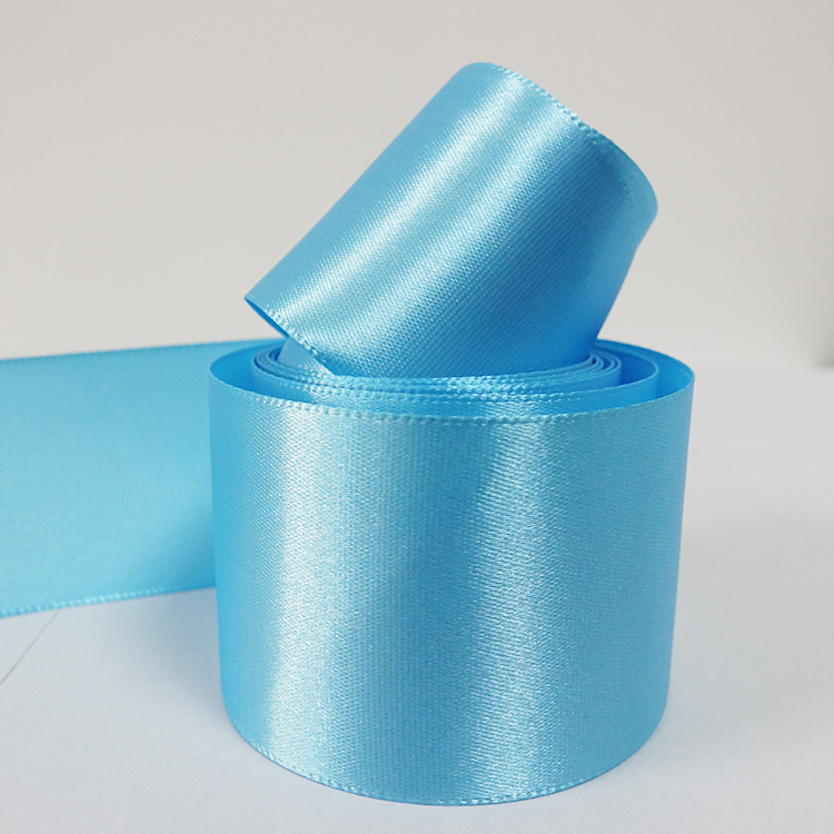 5 Yards Aqua Blue 25mm Satin Bias Tape Ribbon Available in 24 Colors