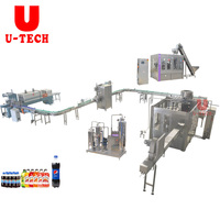 Industrial PET soft beverage carbonated soda drink producing filling bottling packing machine