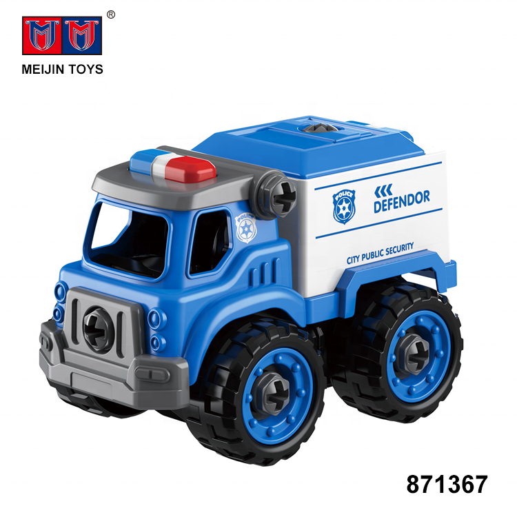 good design diy truck model 29PCS assembly car toy