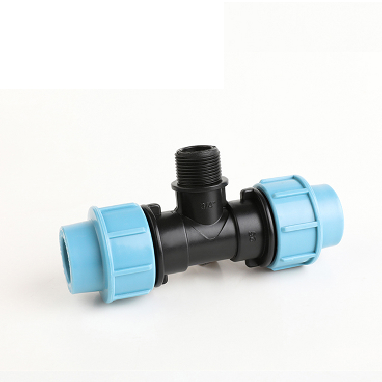 Grosna OEM Elbow Tee Reducer Pipe Fitting Pe Compression Tee Pp Hdpe Equal Tee For Pipe Connection