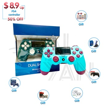 Wireless Game PS4 Controller 4 V2 V4 Gamepad Remote Joystick for PS4 / Slim / Pro 1TB console with Dual Vibration Fit For mando
