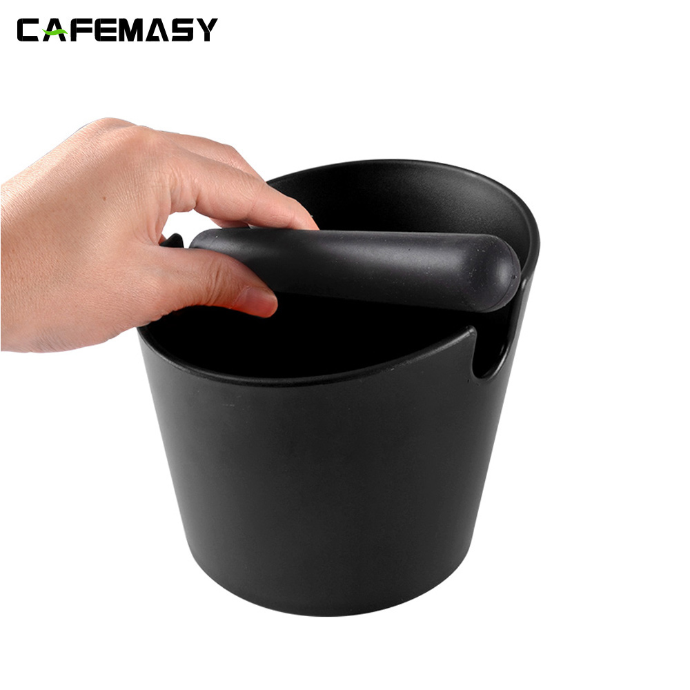 Coffee Accessories ABS Plastic Black Coffee Powder Knock Box Coffee Grounds Knock Box