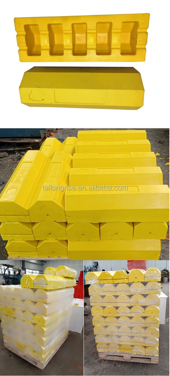 New Arrival High Quality Aviation Wheel Stops, Polyurethane Aircraft Wheel Chock Single Yellow Color