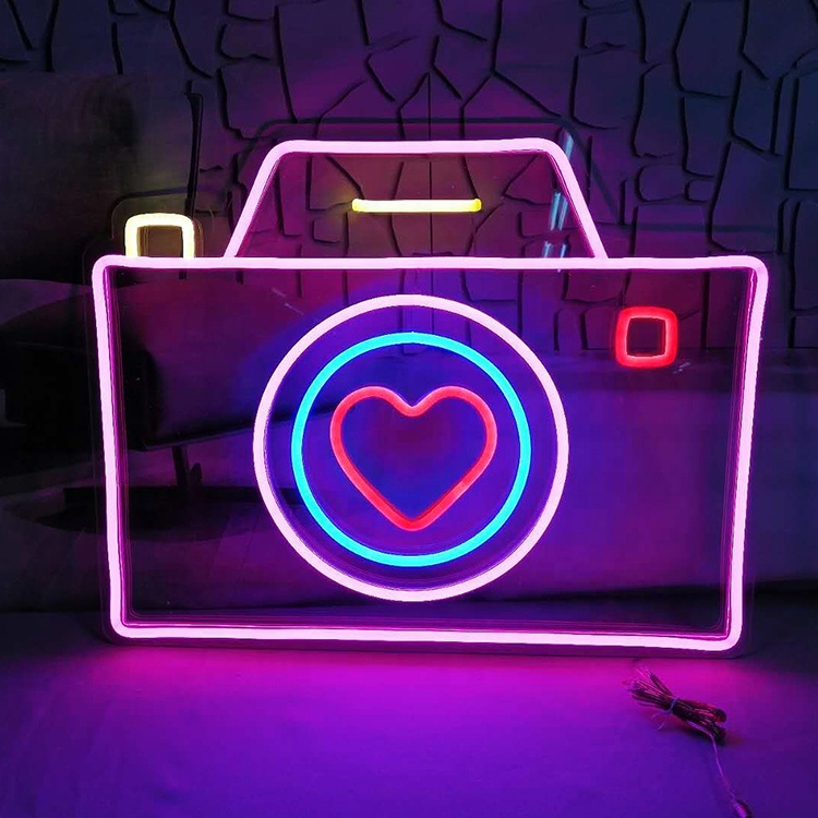new design camera shape led neon flexible sign for outdoor