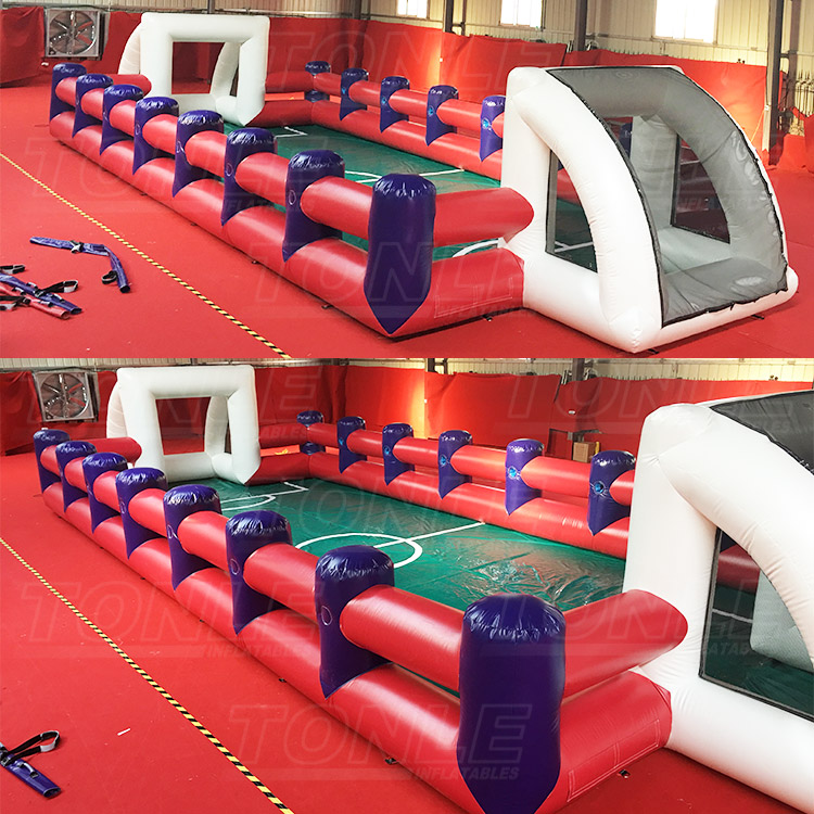 inflatable human foosball court, human table football game for sale