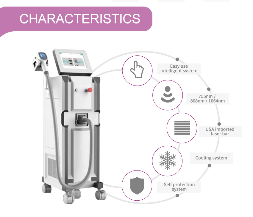 Permanent 808nm diode laser hair removal machine for sale