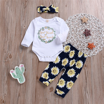 Baby Girls Boutique Outfit Beautiful 3pcs newborn baby girl clothes Wholesale fall Girls Clothing Set