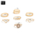 High quality rings jewelry creative roman numerals letters baby rings simple inlay rhinestone drop  heart joint rings set