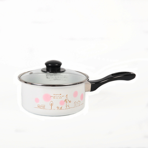Batch Customized Logo white enamel casserole with handle
