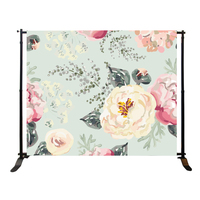 Portable straight telescopic backdrop photo background stand