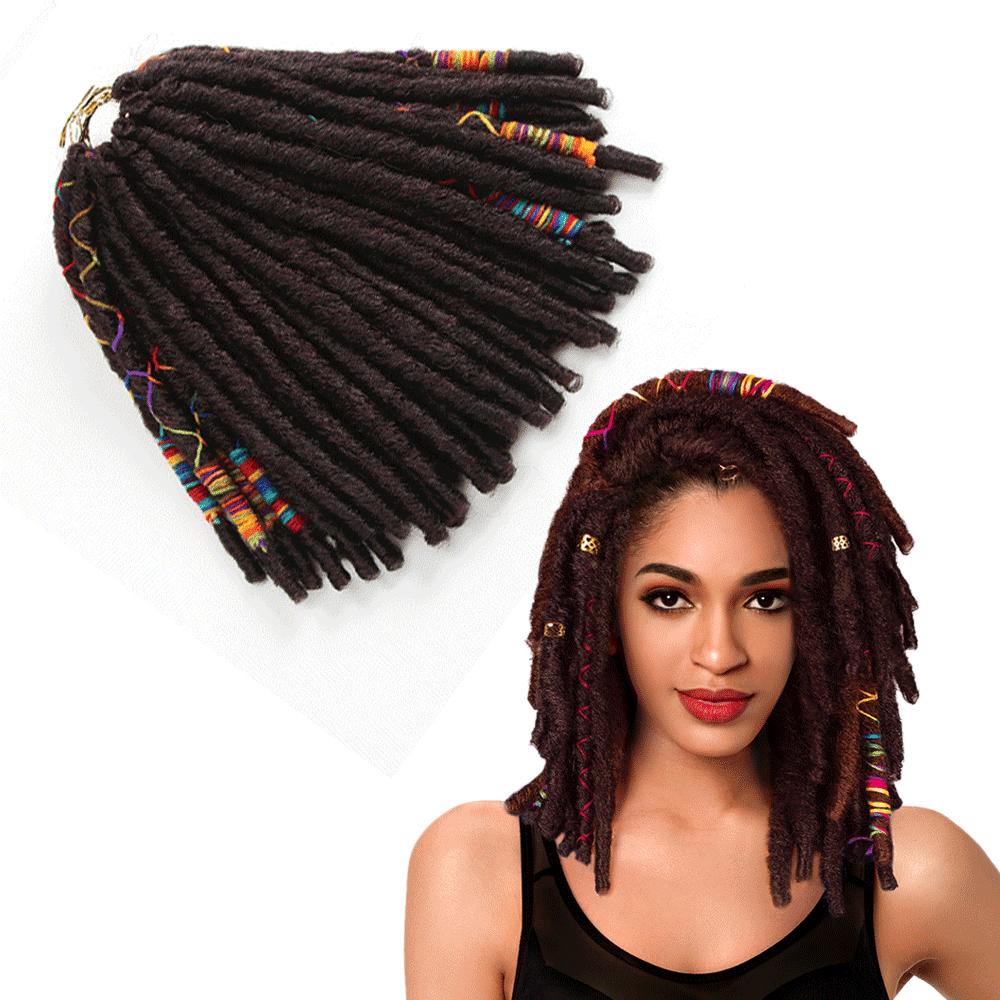 Afro Twist Tóc Braid Faux Locs Phong Cách Mới Crochet Bím Tóc Tổng Hợp Tóc Xoắn Bện Giá Thấp Nhất Afro Curl HairJumbo Dread sợi Lông