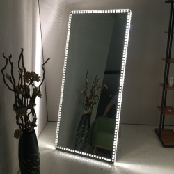 Hotel Frameless Beveled Rectangle Decorative Lighted Makeup Bathroom Led Mirror