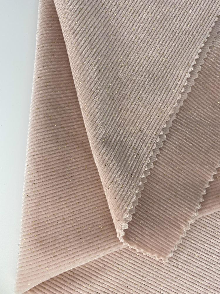 Fashionable Bronzing Warp Knitting Strips Polyester Spandex Velvet