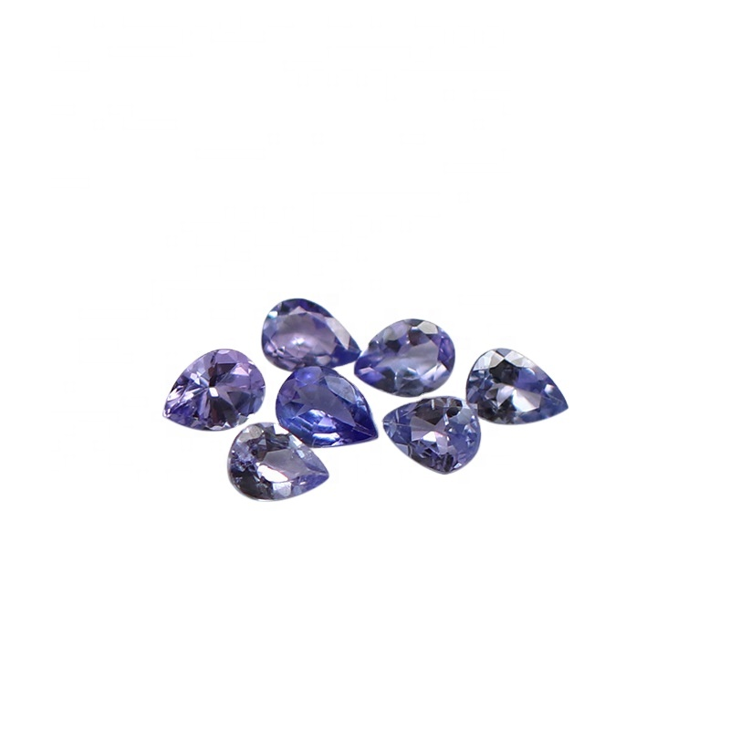 Kahkashan Jewelry Best Selling Loose Stone Tanzanite Pear Shape Purple Color cut 3*4mm for Jewelry Making For Wholesales