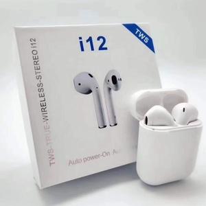 Free samples wholesale i12 bluetooth earphone headset ecouteur sans fil i12 black best prices i12 tws pink earbuds original